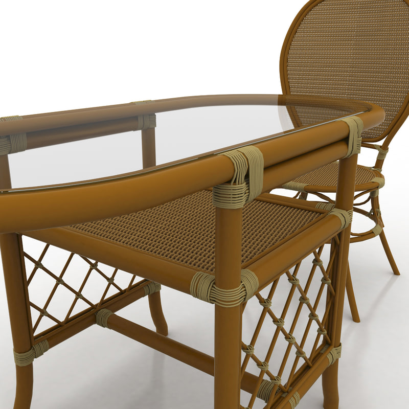 3d cafe table chairs