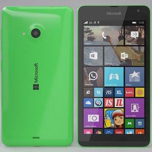 microsoft lumia 535 green 3d obj
