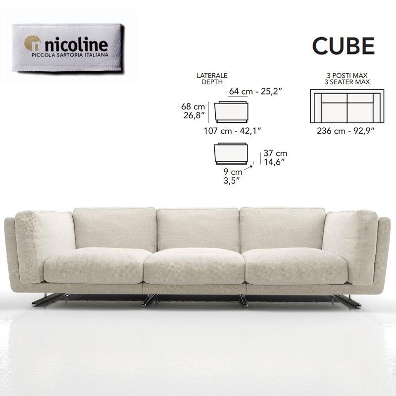 3d nicoline sofa cube