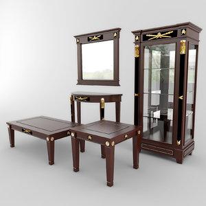 3ds table wardrobe set 01