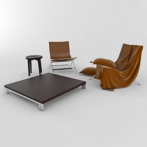 timeless flexform chair table max