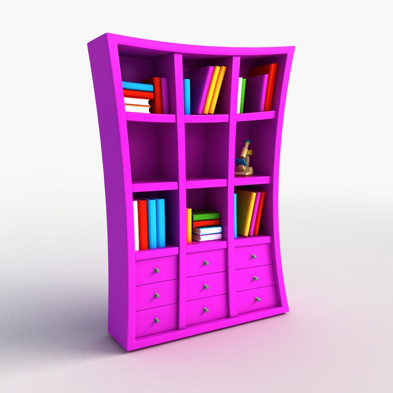 cartoon bookshelf max