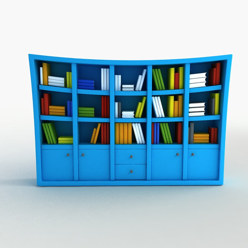 Cartoon Bookshelf Fbx
