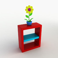 max cartoon shelf flower