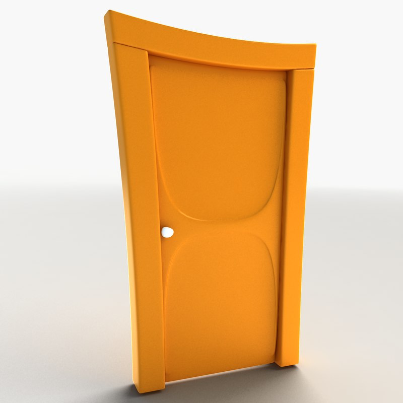 cartoon door 3d model