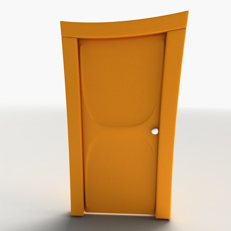 Cartoon Door & cartoon door 3d model