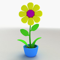3d cartoon flower model