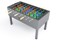3d model soccer table