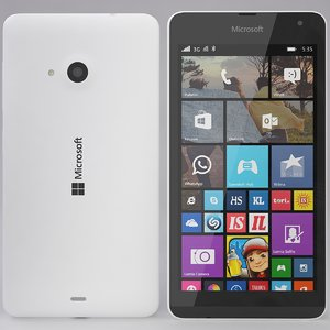 microsoft lumia 535 white 3d model