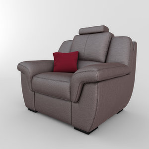 chair adel 01 3d model