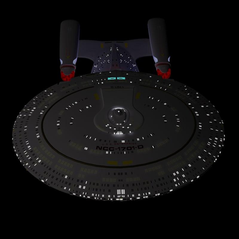 uss enterprise d star trek 3d model