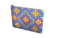 3d wall glass blocks model