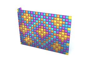 3d wall glass blocks model