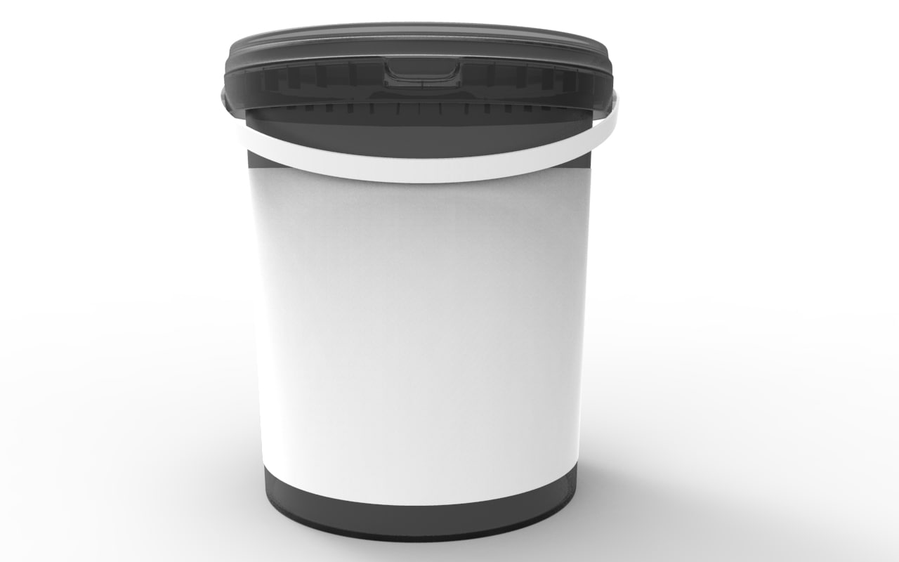 bucket litre food 3d model