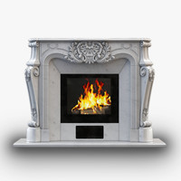 fireplace decoration 3d model