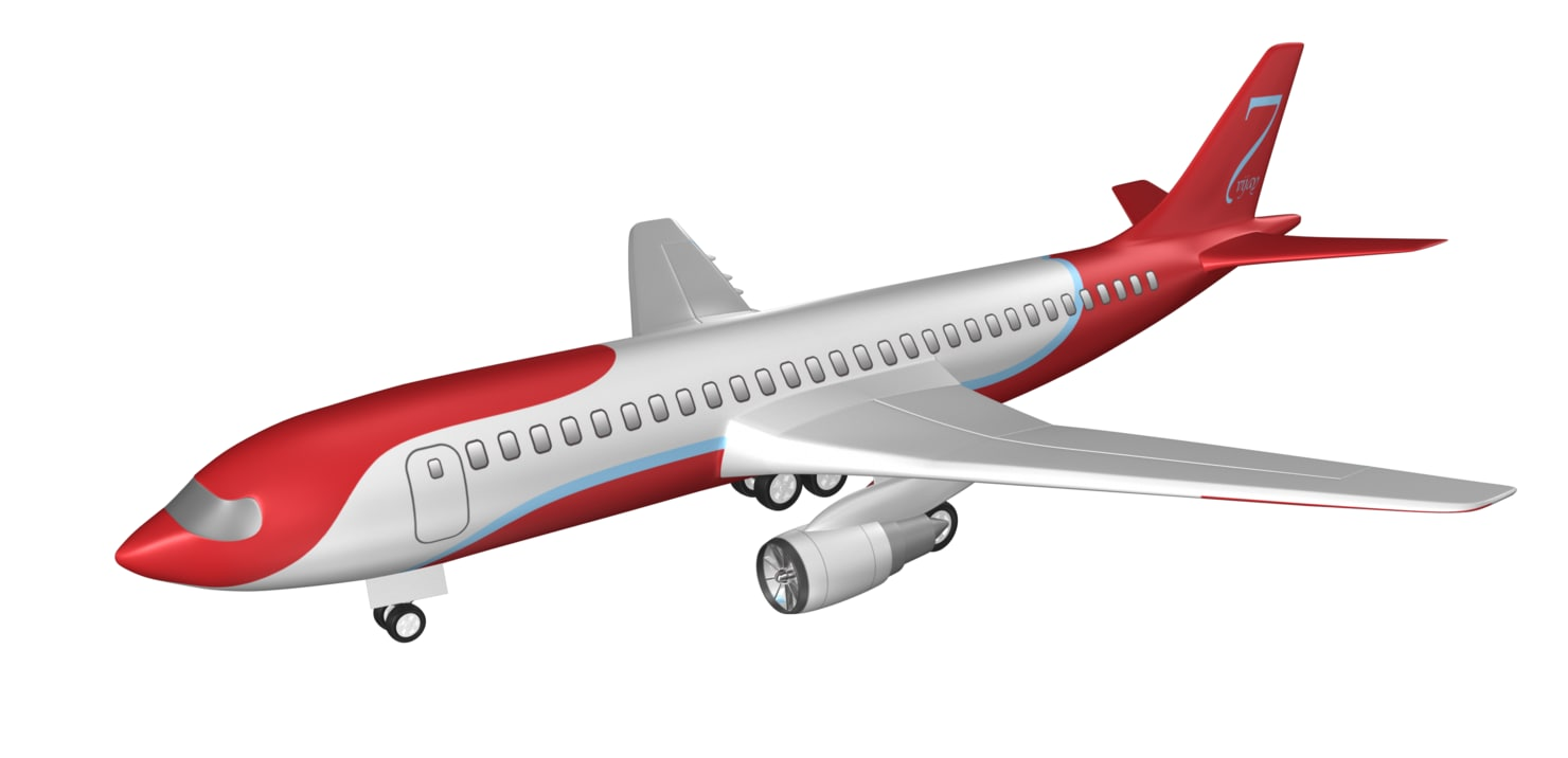 3d aeroplane aircraft jet model