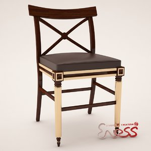 dining room chair clive 3d model
