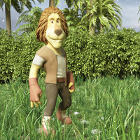 lion cartoon 3d model