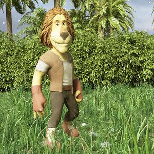 lion cartoon 3d model