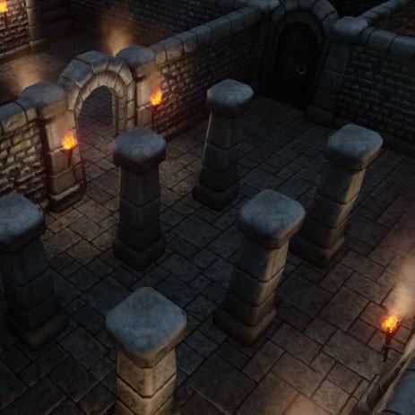 dungeon building set 3d fbx