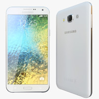 realistic samsung galaxy e7 3d model