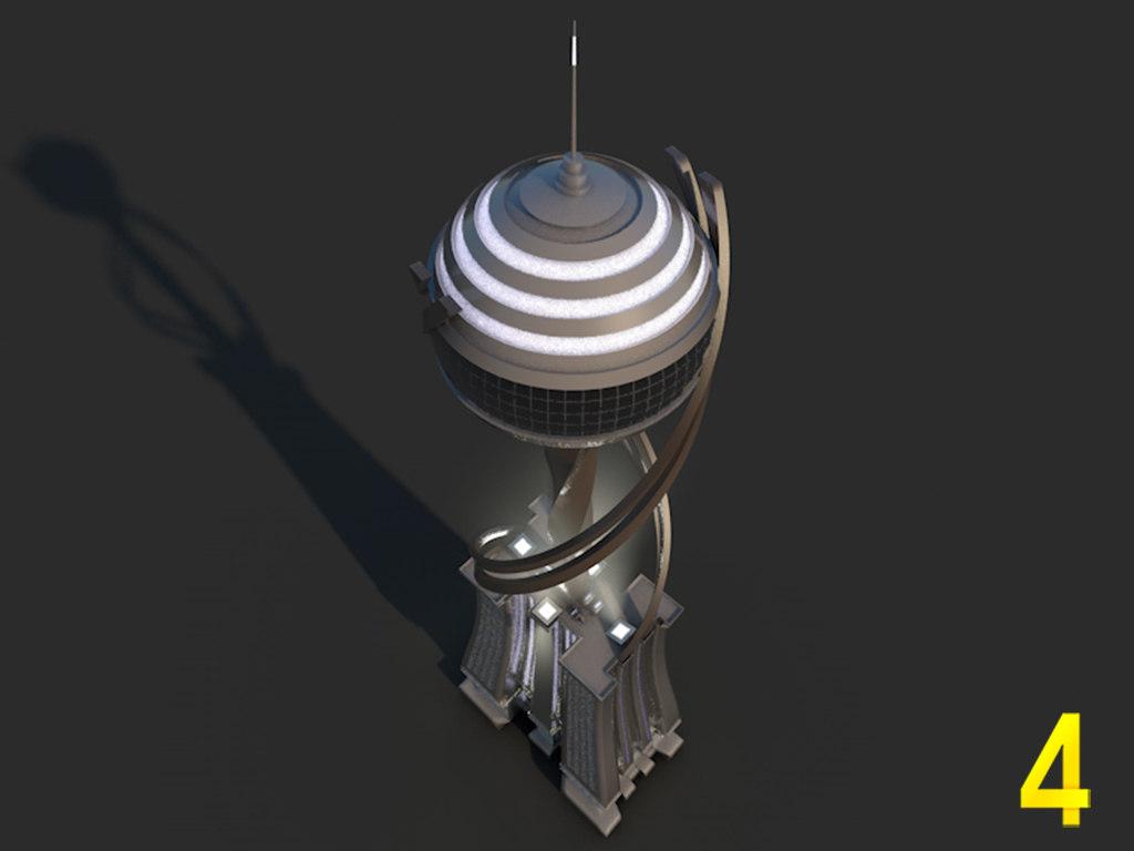 3dsmax tv tower
