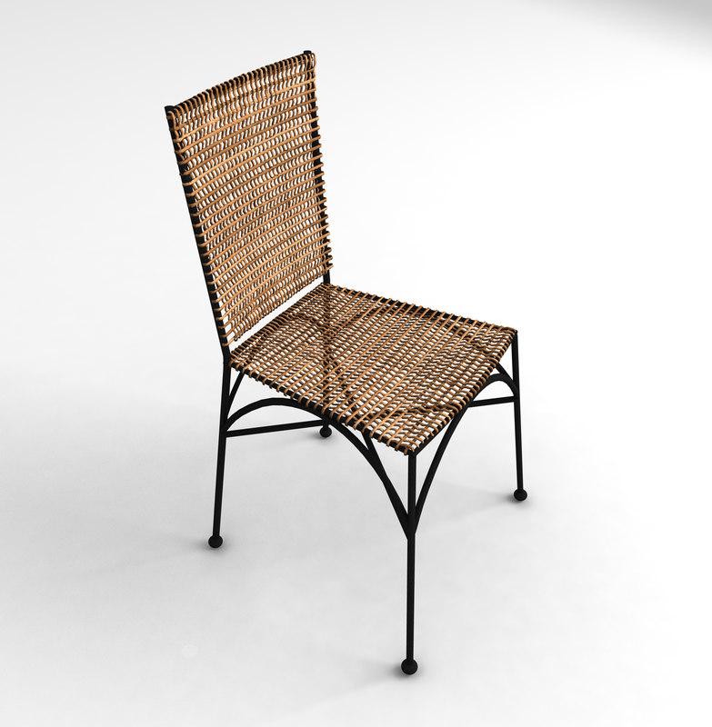 wicker garden chair fbx