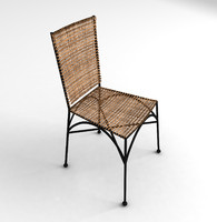 wicker garden chair fbx