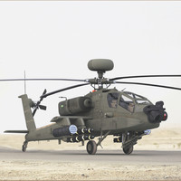 AH64E Apache Longbow Helicopter Green 2 In 1