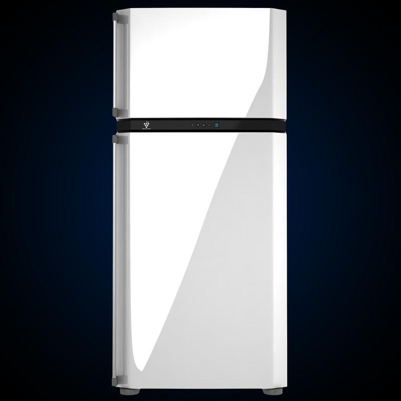 sharp refrigerator 3d model