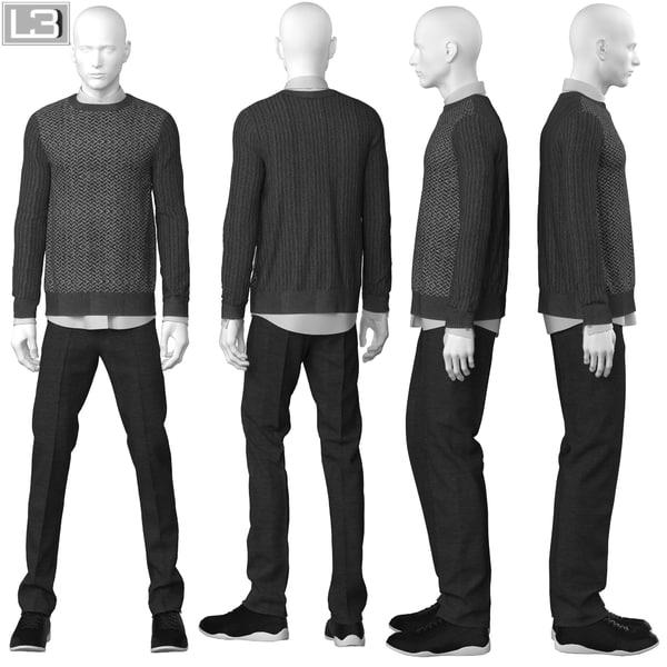 3d model man mannequin