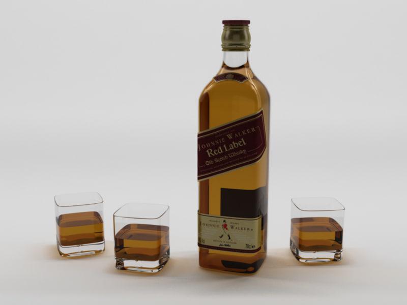 3d scotch johnnie walker 1