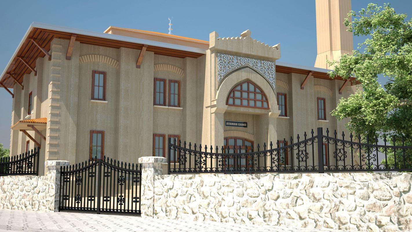 turkey mosque 3d model