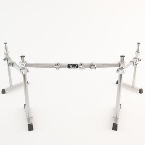 3d model rack drum pearl