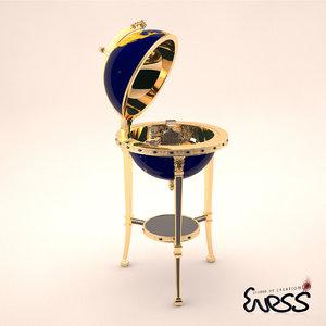 baldi galileo minibar 3d max
