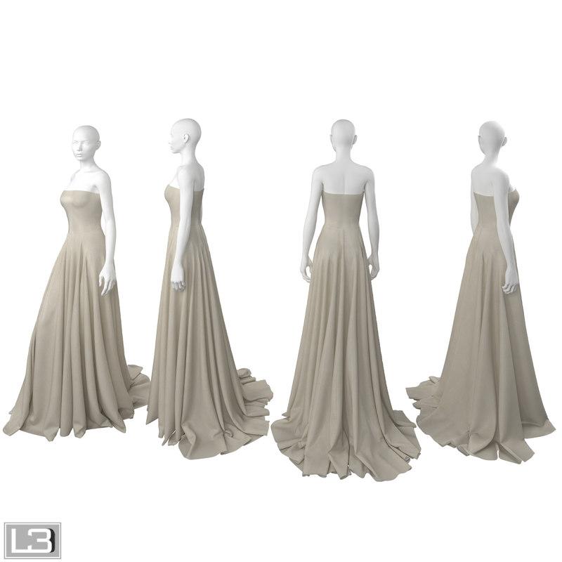 3d max woman mannequin