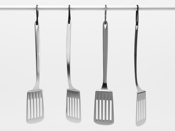 kitchen spatula 1 3d c4d