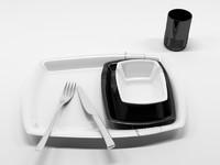 3d dining sets 1 model