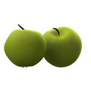 3d x green apple