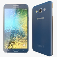 3d realistic samsung galaxy e7 model
