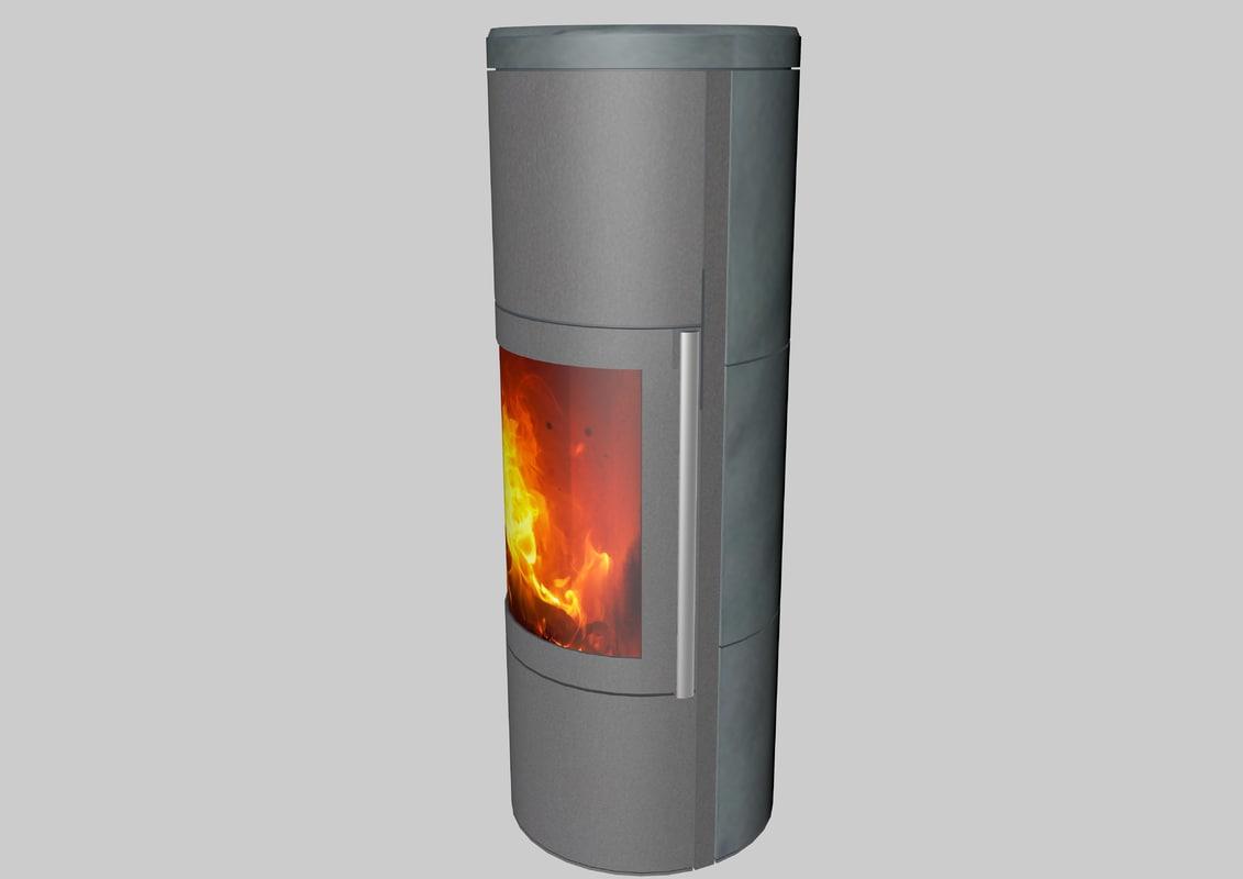3d model chimney pipe modern