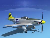 p-51d cockpit propeller 3d max