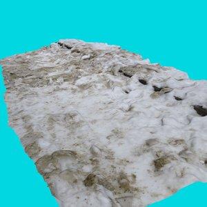 3d model walk path snow