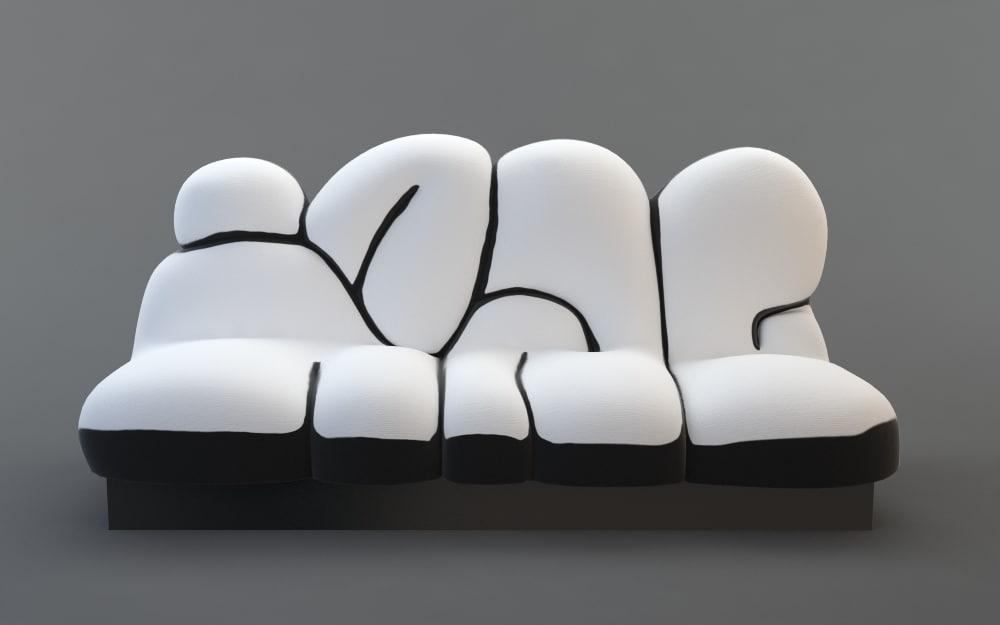 sofa graffiti 3d model