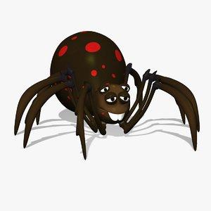 3d grimtoon spider