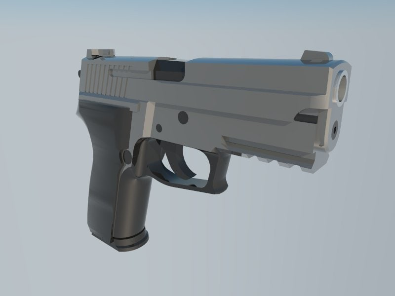 hand gun 3d 3ds