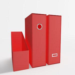 3d 3 files folders model