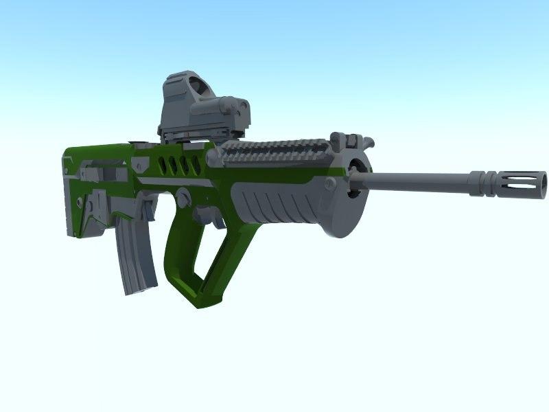 3dsmax rifle assault