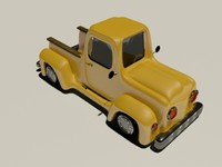 3d cartoon Pickup Truck