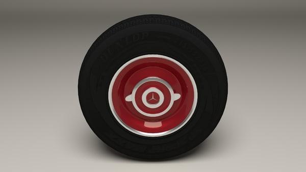 3d mercedes wheel model